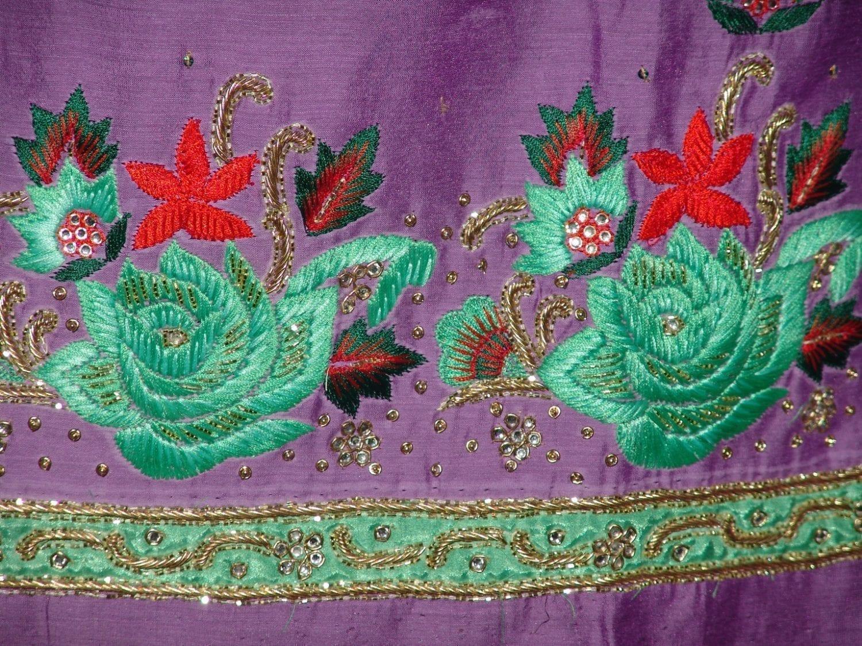 Partywear Cotton Hand Embroidered Punjabi Suit Dupatta set H0099 4