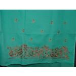 Senior Citizens Pure Linen Cotton Hand Embroidered Suit H0106