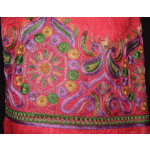 Self Print Cotton Party Wear Hand Embroidered Suit H0122