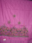 Self Print Cotton Party Wear Hand Embroidered Suit H0123