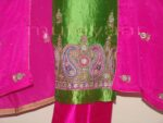100% PURE SILK Hand Embroidered Party Wear Salwar Suit H0186