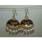 Gold Plated Meenakari work Lotan Dangles Jhumka set J0105