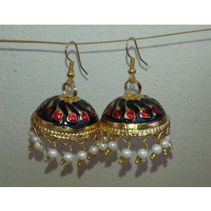 Gold Plated Meenakari work Lotan Dangles Jhumka set J0105