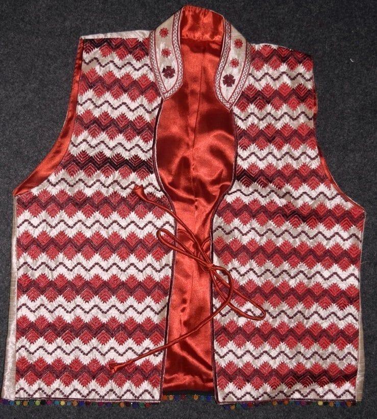 Phulkari Machine Embroidered Jacket Vest for women - Freesize JP003 1
