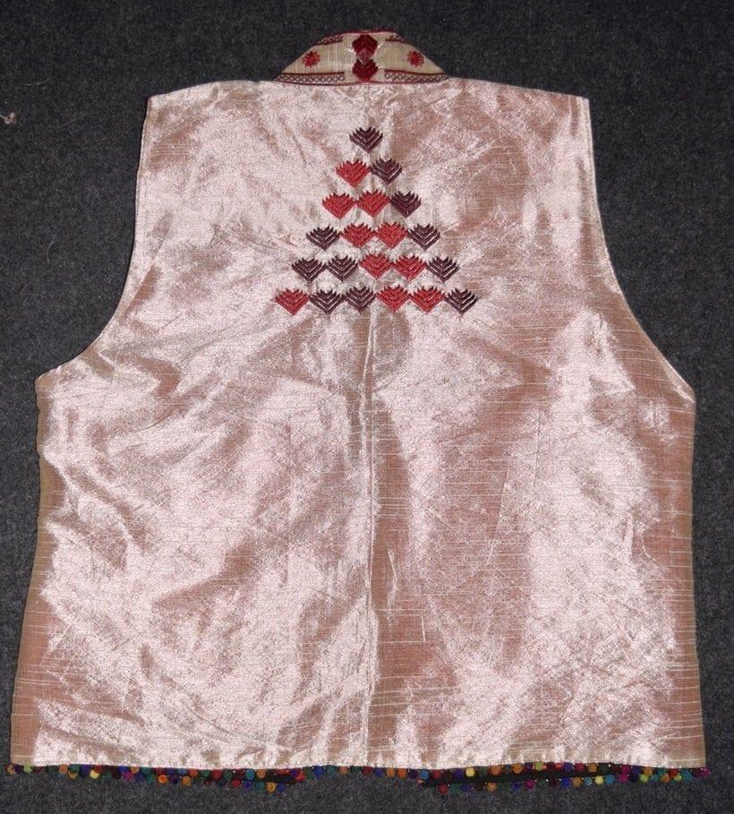 Phulkari Machine Embroidered Jacket Vest for women - Freesize JP003 2