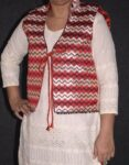 Phulkari Machine Embroidered Jacket Vest for women – Freesize JP003