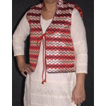 Phulkari Machine Embroidered Jacket Vest for women – Freesize JP003