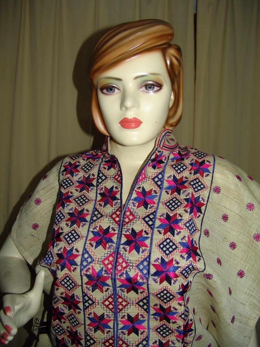 semi stitched JUTE PHULKARI embroidered kurta kurti K0241 3
