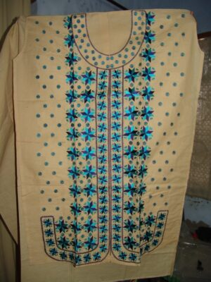 semi stitched cotton PHULKARI embroidered kurta kurti K0243