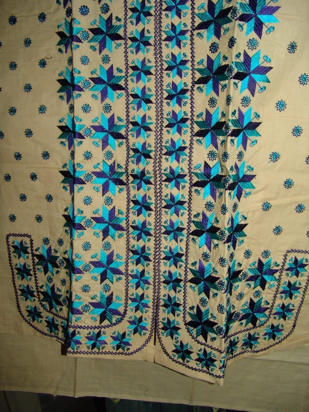 semi stitched cotton PHULKARI embroidered kurta kurti K0243 2