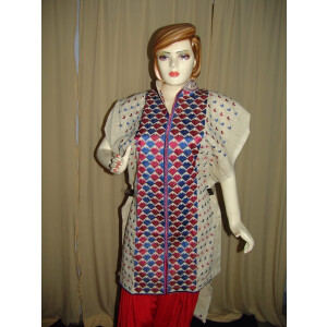 semi stitched JUTE PHULKARI embroidered kurta kurti K0255