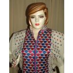 semi stitched JUTE PHULKARI embroidered kurta kurti K0255