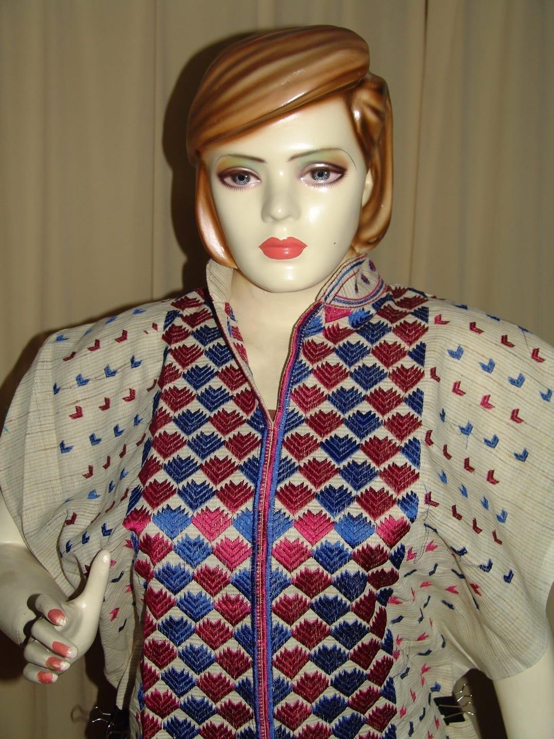 semi stitched JUTE PHULKARI embroidered kurta kurti K0255 3
