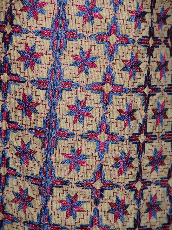 semi stitched jute PHULKARI embroidered kurta kurti K0269 2