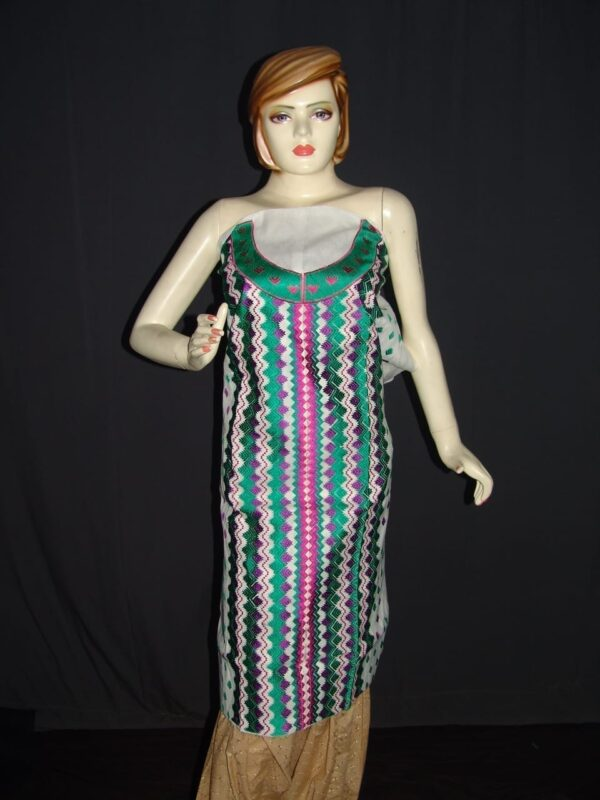 semi stitched cotton Jaal PHULKARI embroidered kurta kurti K0277