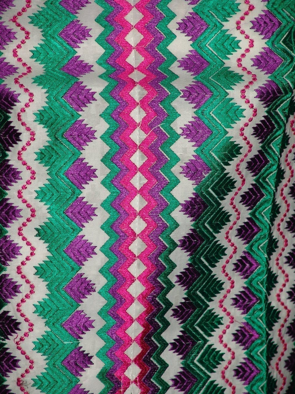 semi stitched cotton Jaal PHULKARI embroidered kurta kurti K0277 3