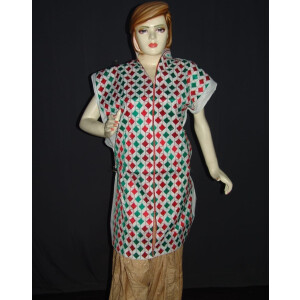 semi stitched cotton Jaal PHULKARI embroidered kurta kurti K0278