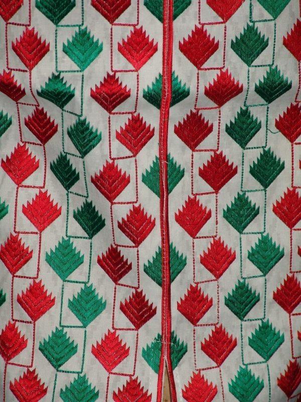 semi stitched cotton Jaal PHULKARI embroidered kurta kurti K0278