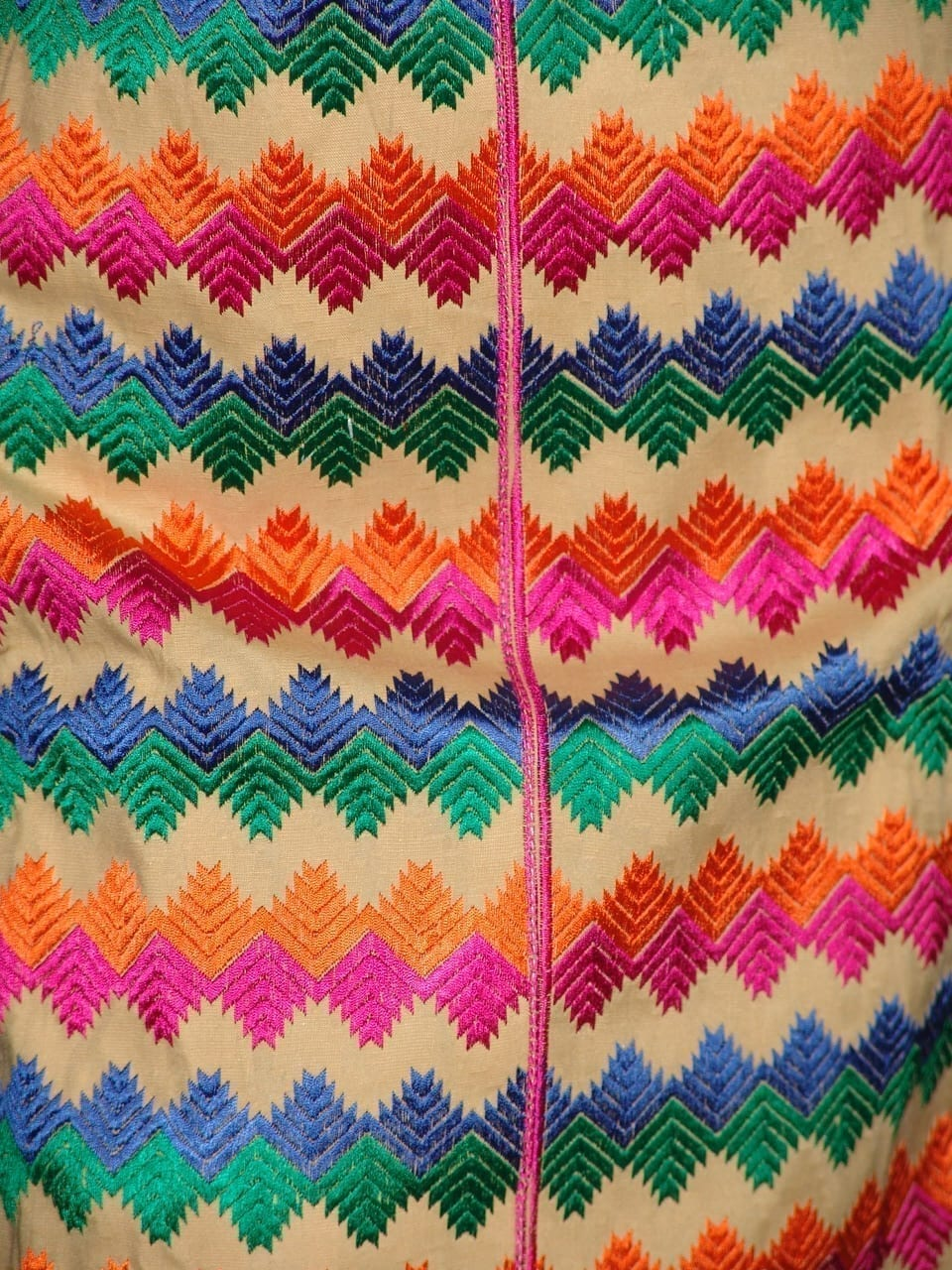 semi stitched cotton Jaal PHULKARI embroidered kurta kurti K0280 3