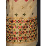 PHULKARI HAND EMBROIDERED Chanderi Fabric PARTY WEAR kurti K0293
