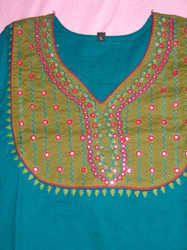 PURE COTTON hand embroidered kurta kurti K0300 size L