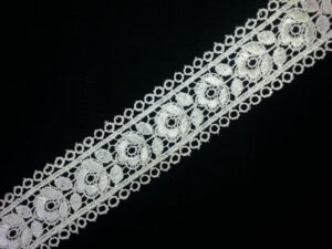 Roses Embroidered Tericot/polyester Lace LC001 (per meter price)
