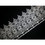 Broad Embroidered Tericot/polyester Lace LC002