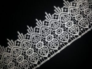 Broad Embroidered Tericot/polyester Lace LC002 (per meter price)