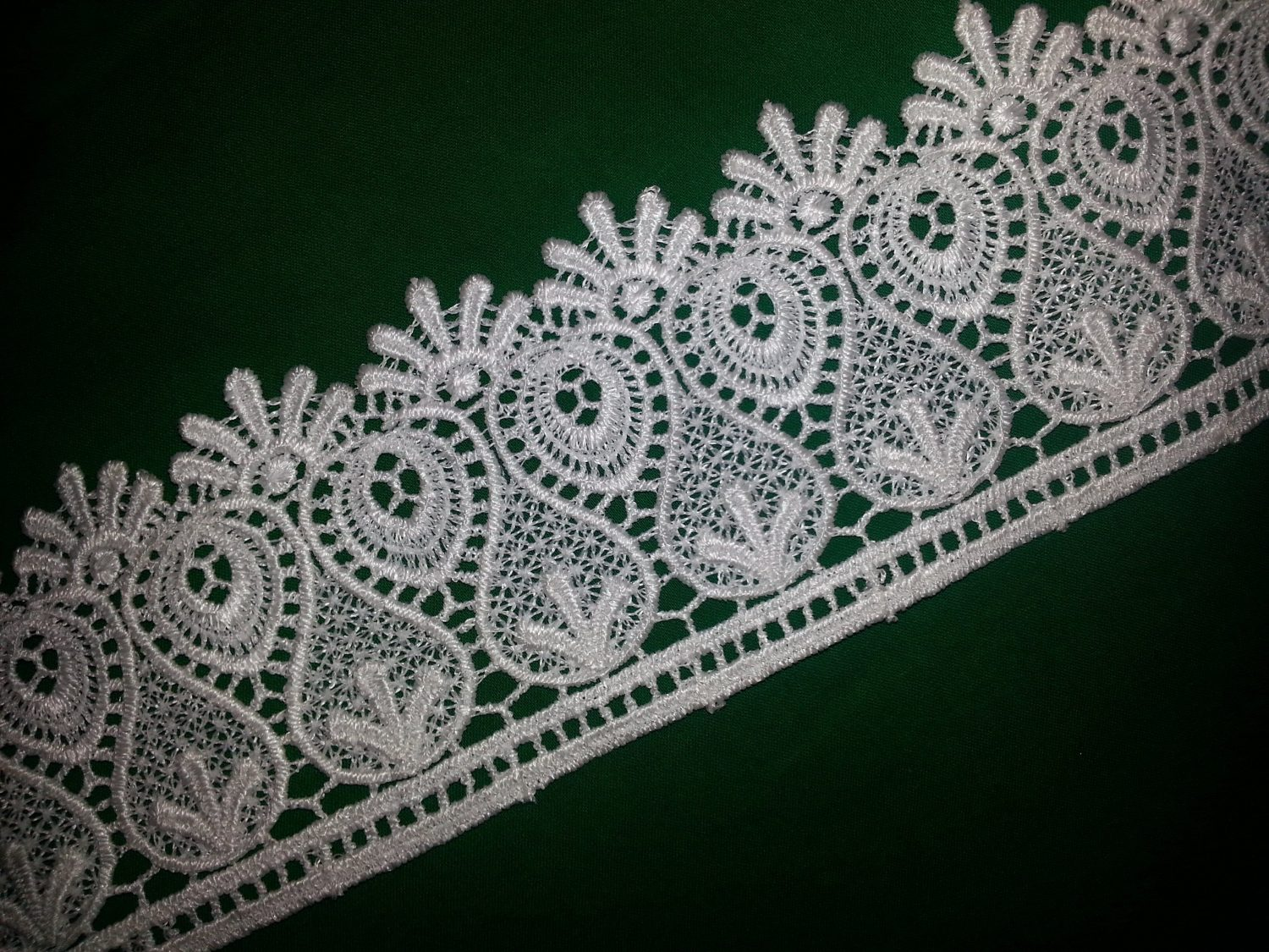 Broad Embroidered Tericot/polyester Lace LC011 1