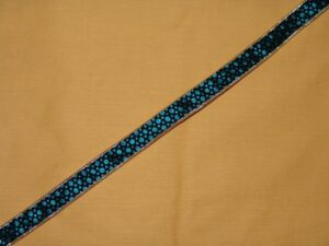 Velvet Print Gota Lace LC030 width 0.75 inch Roll of 9 mtrs.