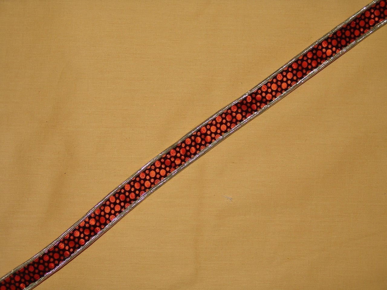 Velvet Print Gota Lace LC031 width 0.75 inch Roll of 9 mtrs. 1