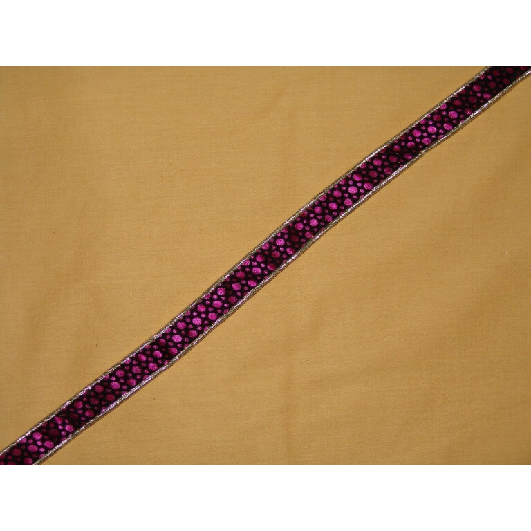 Velvet Print Gota Lace LC032 width 0.75 inch Roll of 9 mtrs.