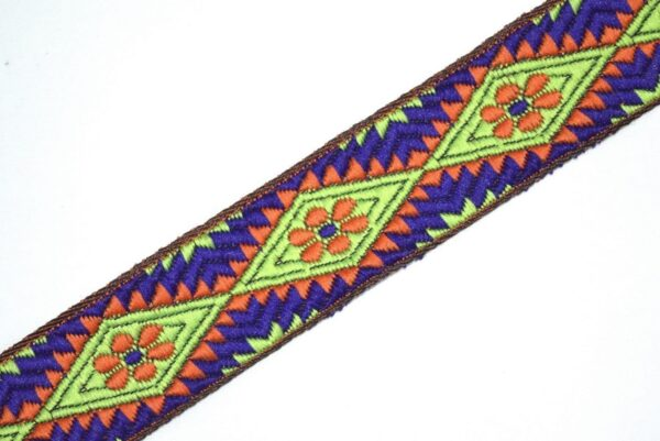 Multicolor Embroidered design Kinari Lace LC057 width 1.25 inch Roll of 9 meters