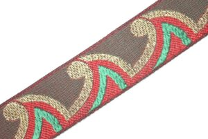 Multicolor Embroidered design Kinari Lace LC066 width 1 inch Roll of 9 meters