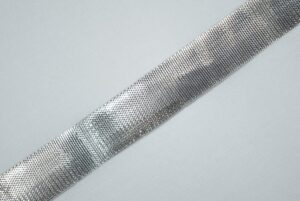 Silver Gota Lace Kinari LC076 half inch width Roll of 18 mtrs.