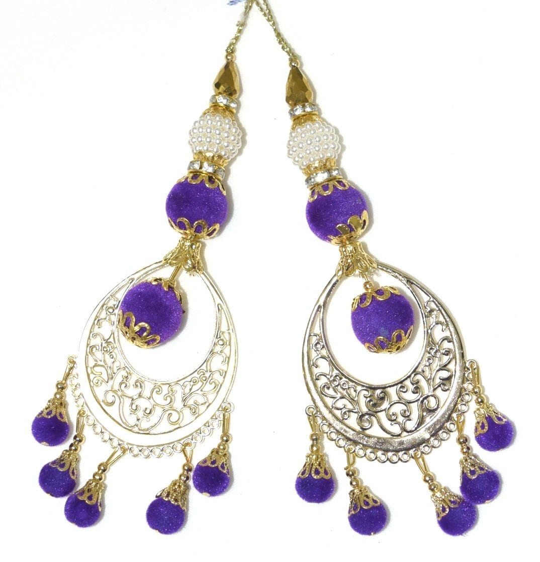 LONG Latkans Dangles pair Multipurpose use for blouse, saree , dupatta, kurti, curtains LK030 1