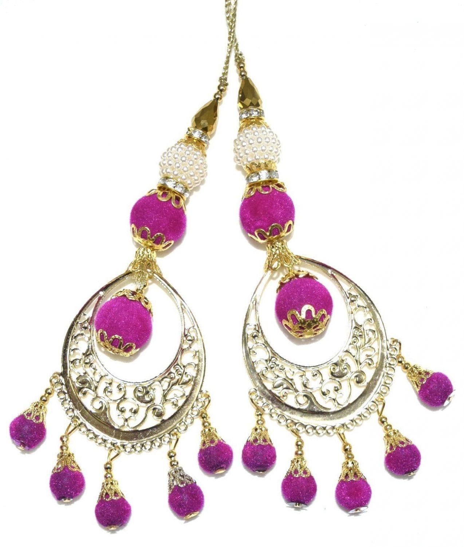 LONG Latkans Dangles pair Multipurpose use for blouse, saree , dupatta, kurti, curtains LK032 1