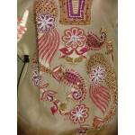 Beads work embroidered ORGANDI Suit CHIFFON dupatta M0238
