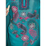 Beads work embroidered ORGANDI Suit CHIFFON dupatta M0239