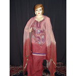 Beads work embroidered ORGANDI Suit CHIFFON dupatta M0240