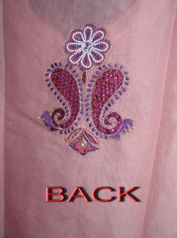 Beads work embroidered ORGANDI Suit CHIFFON dupatta M0240 3