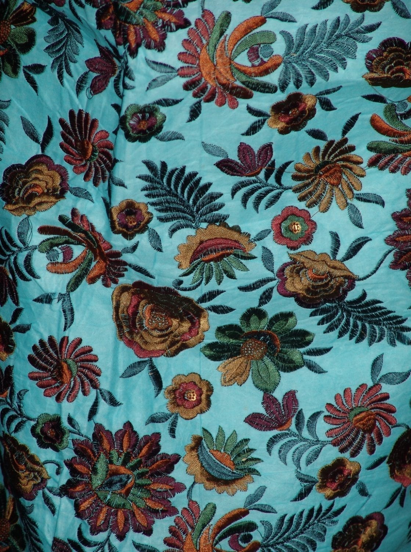 JAAL work embroidered ORGANDI Suit CHIFFON dupatta M0242 2