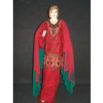 Jaal embroidered COTTON Suit Half Pure CHIFFON chunni M0277