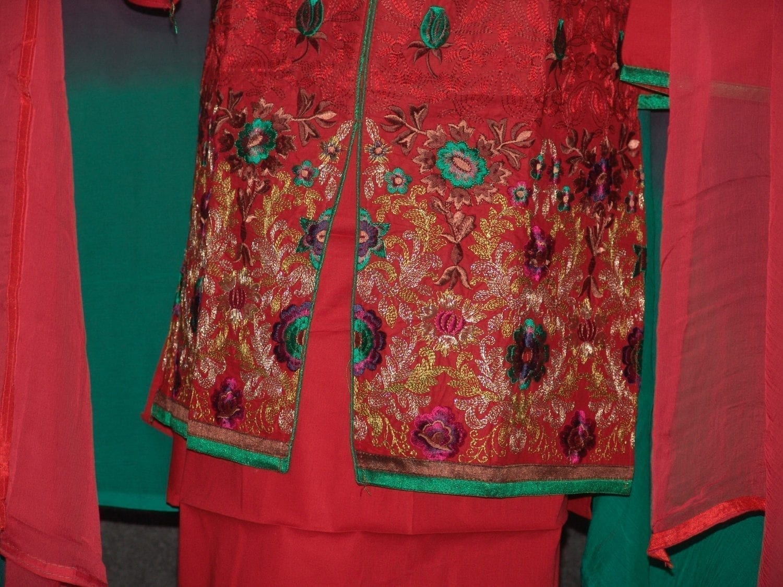 Jaal embroidered COTTON Suit Half Pure CHIFFON chunni M0277 3