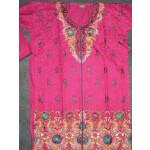 Jaal embroidered COTTON Suit Half Pure CHIFFON chunni M0278
