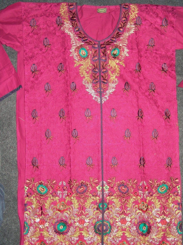 Jaal embroidered COTTON Suit Half Pure CHIFFON chunni M0278 2