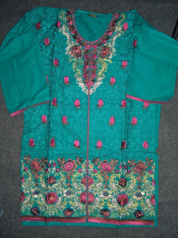 Jaal embroidered COTTON Suit Half Pure CHIFFON chunni M0279 2