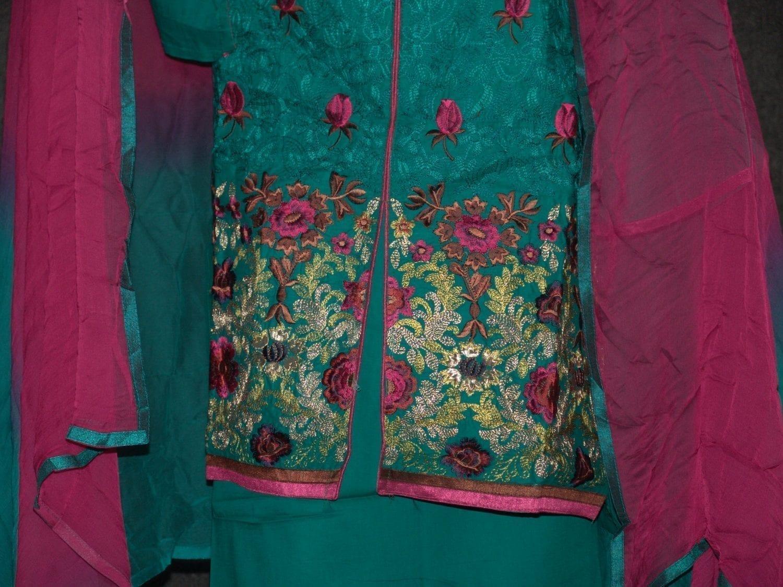Jaal embroidered COTTON Suit Half Pure CHIFFON chunni M0279 3