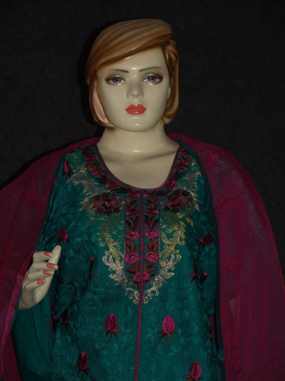Jaal embroidered COTTON Suit Half Pure CHIFFON chunni M0279 4