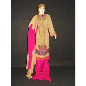 Anarkali Pakistani style Georgette Embr. Pajami Suit M0297